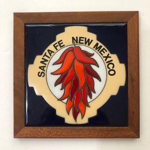 Vintage Tile Santa Fe, New Mexico Red Chilis